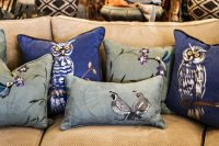 hand painted pillows by susan gillette